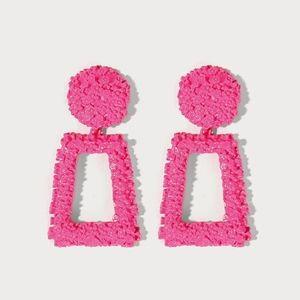 Hot Pink Knocker Earrings